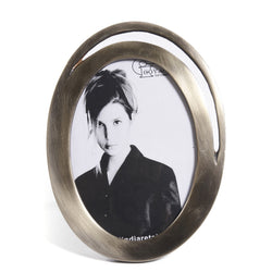 Oval Silver Brass Photo Frame - FOLKBRIDGE.COM | Buy Gifts. Indian Handicrafts. Home Decorations.