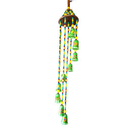 Hand Painted Multi Coloured Decorative Wind Chime - FOLKBRIDGE.COM | Buy Gifts. Indian Handicrafts. Home Decorations.