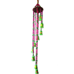 Multi Coloured Decorative Wind Chime - FOLKBRIDGE.COM | Buy Gifts. Indian Handicrafts. Home Decorations.