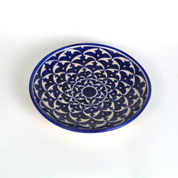 Ceramic Round Dark Blue Plate - FOLKBRIDGE.COM | Buy Gifts. Indian Handicrafts. Home Decorations.