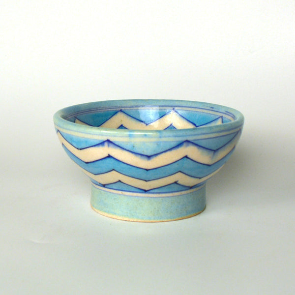 Ceramic Blue Round Bowl - FOLKBRIDGE.COM | Buy Gifts. Indian Handicrafts. Home Decorations.