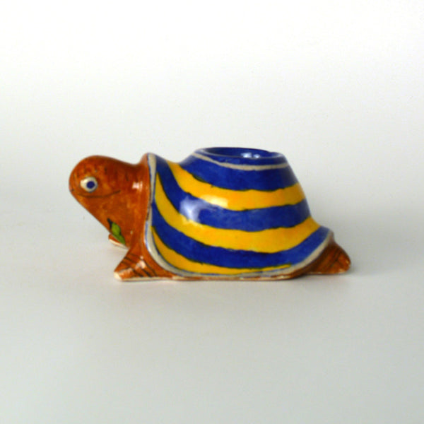 Ceramic Multicolored Tortoise Candle Stand - FOLKBRIDGE.COM | Buy Gifts. Indian Handicrafts. Home Decorations.