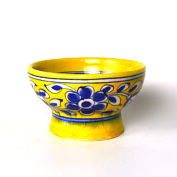 Ceramic Yellow Round Bowl - FOLKBRIDGE.COM | Buy Gifts. Indian Handicrafts. Home Decorations.