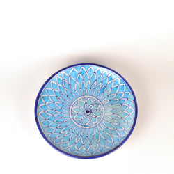 Ceramic Blue and White Round Decorative Plate - FOLKBRIDGE.COM | Buy Gifts. Indian Handicrafts. Home Decorations.