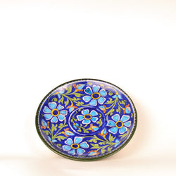 Ceramic Multicolored Round Decorative Plate - FOLKBRIDGE.COM | Buy Gifts. Indian Handicrafts. Home Decorations.
