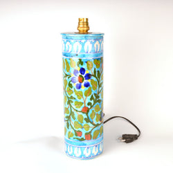 Ceramic Multicolored Round Floral Table Lamp, Small - FOLKBRIDGE.COM | Buy Gifts. Indian Handicrafts. Home Decorations.