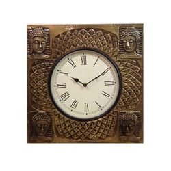 Brass Buddha Wall Clock - FOLKBRIDGE.COM | Buy Gifts. Indian Handicrafts. Home Decorations.