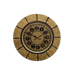 Brass Designer Round Wall Clock - FOLKBRIDGE.COM | Buy Gifts. Indian Handicrafts. Home Decorations.