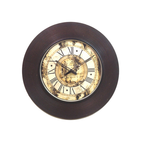 Classy Wooden Wall Clock - FOLKBRIDGE.COM | Buy Gifts. Indian Handicrafts. Home Decorations.