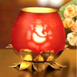Ganesh Tea Light Holder - FOLKBRIDGE.COM | Buy Gifts. Indian Handicrafts. Home Decorations.