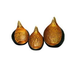 Hammered Metal Tea Light Holders, Set of 3 - FOLKBRIDGE.COM | Buy Gifts. Indian Handicrafts. Home Decorations.