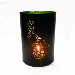 Cutwork Peacock Hurricane Candle Holder - FOLKBRIDGE.COM | Buy Gifts. Indian Handicrafts. Home Decorations.