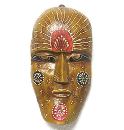 FBJ4N005_Wooden Painted Small Face Mask