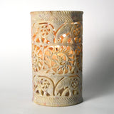 Filigree Art Soap Stone Round Brown Pen Holder - FOLKBRIDGE.COM | Buy Gifts. Indian Handicrafts. Home Decorations.