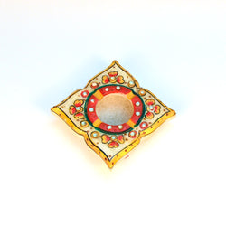 Marble Multicolored Square Ashtray - FOLKBRIDGE.COM | Buy Gifts. Indian Handicrafts. Home Decorations.