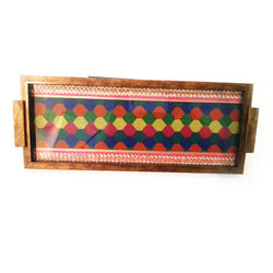 Wooden Multicolured Serving Tray Or Decorative Trays - FOLKBRIDGE.COM | Buy Gifts. Indian Handicrafts. Home Decorations.