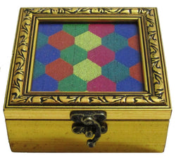Colourful Small Square Wooden Box - FOLKBRIDGE.COM | Buy Gifts. Indian Handicrafts. Home Decorations.