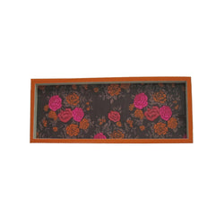 Red Floral Long Wooden Serving Tray Or Decorative Trays - FOLKBRIDGE.COM | Buy Gifts. Indian Handicrafts. Home Decorations.