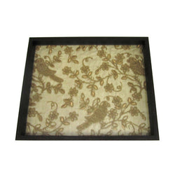 Wooden Golden Birds Embroidery Serving Tray Or Decorative Trays - FOLKBRIDGE.COM | Buy Gifts. Indian Handicrafts. Home Decorations.