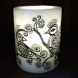 Black Bird Designed Flameless Candle - FOLKBRIDGE.COM | Buy Gifts. Indian Handicrafts. Home Decorations.