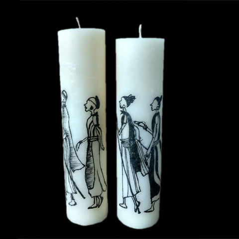 African Ladies Design Candle - FOLKBRIDGE.COM | Buy Gifts. Indian Handicrafts. Home Decorations.