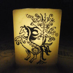 Black Horse Design Lamp - FOLKBRIDGE.COM | Buy Gifts. Indian Handicrafts. Home Decorations.