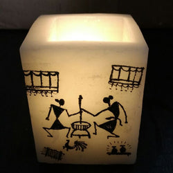 Black Tribal Pattern Lamp - FOLKBRIDGE.COM | Buy Gifts. Indian Handicrafts. Home Decorations.