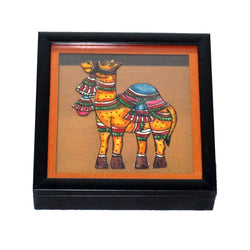 Andhra leather Cut Camel Box  - FOLKBRIDGE.COM | Buy Gifts. Indian Handicrafts. Home Decorations.