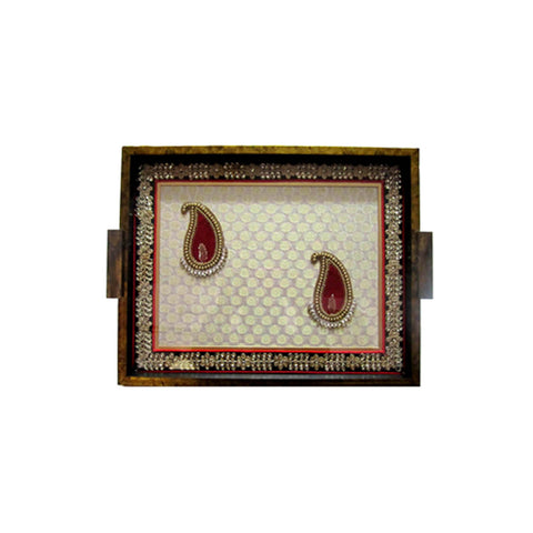 Ambi Motif Tray - FOLKBRIDGE.COM | Buy Gifts. Indian Handicrafts. Home Decorations.