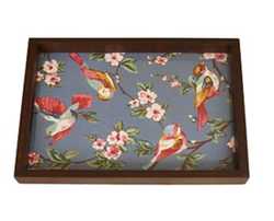 FBK3KTP164- Blue Bird Print Designed Serving Tray
