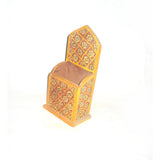 Yellow Wooden Pencil Pen Holder - FOLKBRIDGE.COM | Buy Gifts. Indian Handicrafts. Home Decorations.