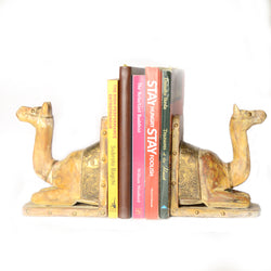 Camel Book Ends Or Book End Or Book Stoppers, Brass Artwork - FOLKBRIDGE.COM | Buy Gifts. Indian Handicrafts. Home Decorations.
