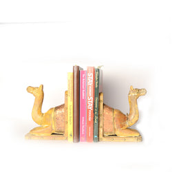 Camel Book Ends Or Book End Or Book Stoppers, Copper Artwork - FOLKBRIDGE.COM | Buy Gifts. Indian Handicrafts. Home Decorations.
