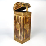 Wooden Golden and Yellow Wine Or Bottle Holder - FOLKBRIDGE.COM | Buy Gifts. Indian Handicrafts. Home Decorations.