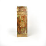 Wooden Golden and Green Wine Or Bottle Holder - FOLKBRIDGE.COM | Buy Gifts. Indian Handicrafts. Home Decorations.