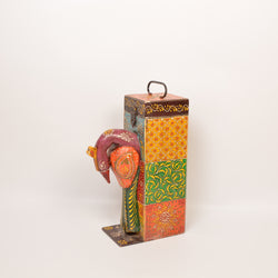 Wooden Multicolored Peacock Wine or Bottle Holder - FOLKBRIDGE.COM | Buy Gifts. Indian Handicrafts. Home Decorations.