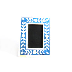 Bone Inlay Photo or Picture Frame, Blue and White - FOLKBRIDGE.COM | Buy Gifts. Indian Handicrafts. Home Decorations.