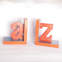 A and Z Book Stoppers, Red And Blue - FOLKBRIDGE.COM | Buy Gifts. Indian Handicrafts. Home Decorations.