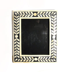 Bone Inlay Large Photo or Picture Frame, Black and White - FOLKBRIDGE.COM | Buy Gifts. Indian Handicrafts. Home Decorations.