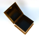 Wooden Brown and Golden Treasure Chest, Small - FOLKBRIDGE.COM | Buy Gifts. Indian Handicrafts. Home Decorations.