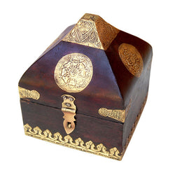 Conical Wooden Chest, Large - FOLKBRIDGE.COM | Buy Gifts. Indian Handicrafts. Home Decorations.
