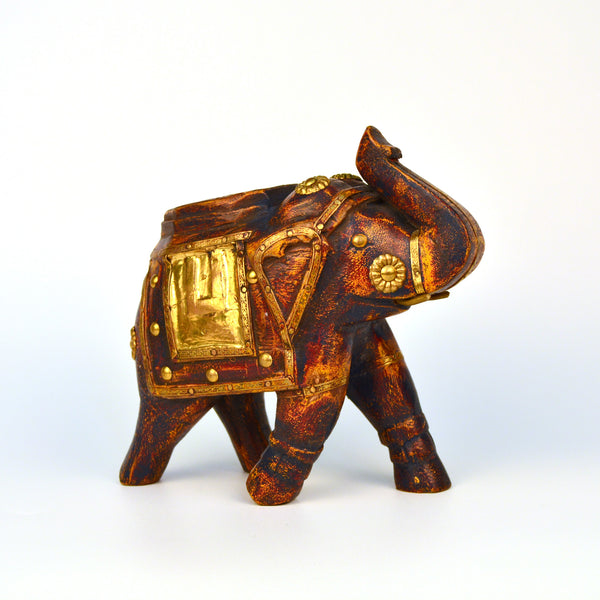 Wooden and Brass Flat Elephant Figurine - FOLKBRIDGE.COM | Buy Gifts. Indian Handicrafts. Home Decorations.