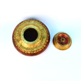 Round Wooden Red Sindoor Box - FOLKBRIDGE.COM | Buy Gifts. Indian Handicrafts. Home Decorations.