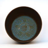 Brass Blue Tibetan Round Singing Bowl with Wooden Gong - FOLKBRIDGE.COM | Buy Gifts. Indian Handicrafts. Home Decorations.