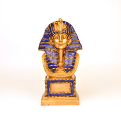 Stone Studded Blue Brass Egyptian King Figurine - FOLKBRIDGE.COM | Buy Gifts. Indian Handicrafts. Home Decorations.