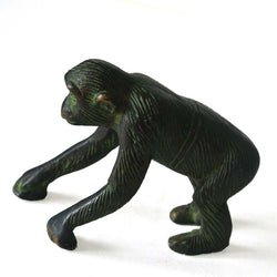 Black and Green Brass Chimpanzee Figurine - FOLKBRIDGE.COM | Buy Gifts. Indian Handicrafts. Home Decorations.