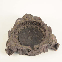 Brown Fibre Three Headed Elephant Ashtray - FOLKBRIDGE.COM | Buy Gifts. Indian Handicrafts. Home Decorations.