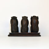 Brown Gandhiji's Three Monkey Figurine - FOLKBRIDGE.COM | Buy Gifts. Indian Handicrafts. Home Decorations.