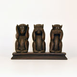 Brown Gandhiji's Three Fiber Monkey Figurine - FOLKBRIDGE.COM | Buy Gifts. Indian Handicrafts. Home Decorations.