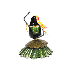 Iron Rajasthani Folk Dancer Or Kalbelia Dancer Statuette, Green Dress - FOLKBRIDGE.COM | Buy Gifts. Indian Handicrafts. Home Decorations.